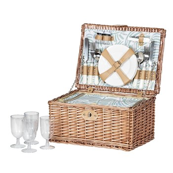 Amalfi Alari 4 Person Picnic Basket with Cooler