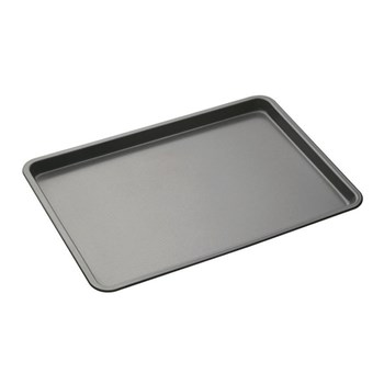 MasterPro Non-Stick Steel Bake Pan 25 x 2 x 37cm Black