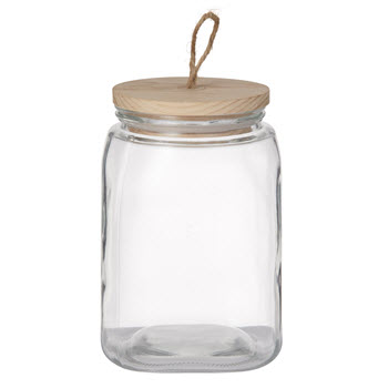 Pantry 2.6L Square Glass Canister With Lid