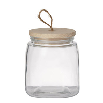 Pantry 1.9L Square Glass Canister With Lid