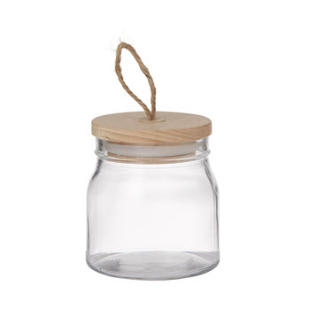 Pantry 540ml Round Glass Canister With Lid