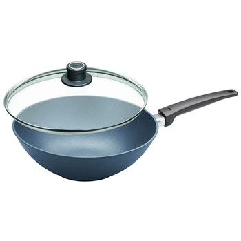 Woll Saphir Lite Aluminium Induction Wok with Lid 30cm