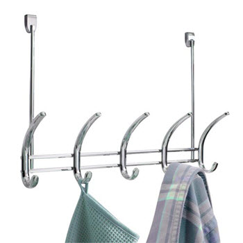 InterDesign Axis 5 Hook Over-the-Door Rack