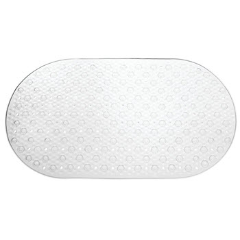 InterDesign Circlz Bath Mat Clear