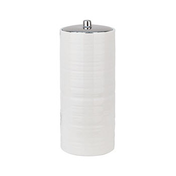 Urban Lines Hush White Toilet Roll Canister