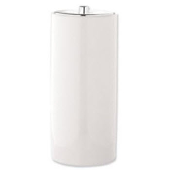 Urban Lines White Toilet Roll Canister
