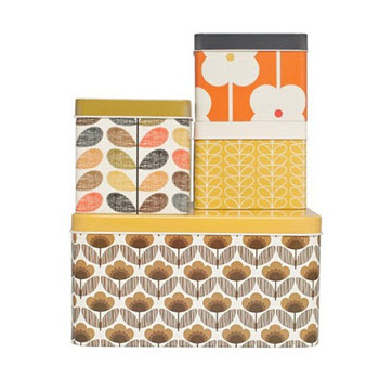 Orla Kiely Set of 4 Square Biscuit Tins
