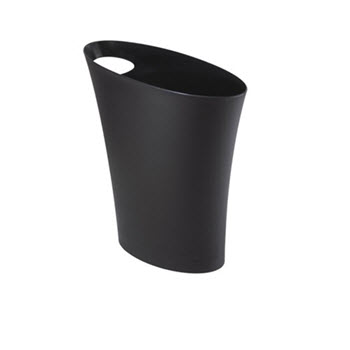 Umbra Skinny Can Black Rubbish Bin