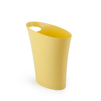 Umbra Skinny Can Yellow Rubbish Bin
