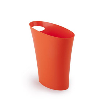 Umbra Skinny Can Orange Rubbish Bin