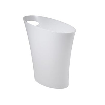 Umbra Skinny Can White Rubbish Bin