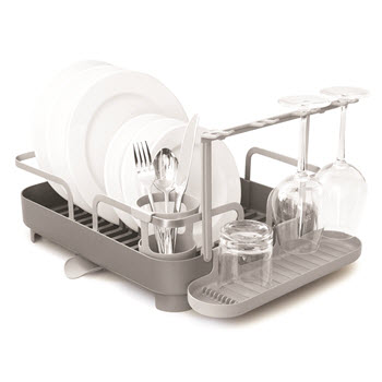 Umbra Holster Dish Rack Silver & Grey