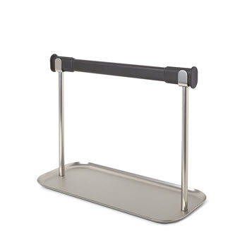 Umbra Limbo Paper Towel Holder with Tray Silver & Black