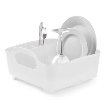 Umbra White Tub Dish Rack