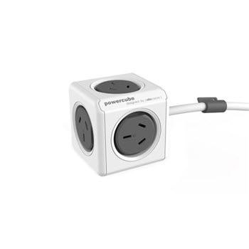 Allocacoc Powercube 5 Power Sockets 3m Grey