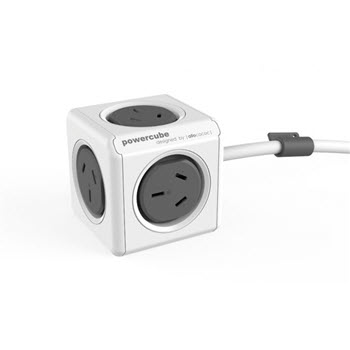 Allocacoc Powercube 5 Power Sockets 1.5m Grey
