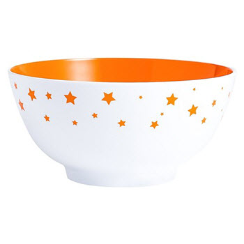 Barel Designs Orange Star 15cm Melamine Bowls Set of 6