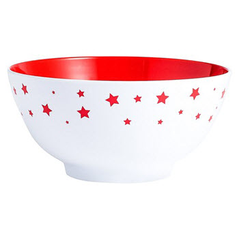 Barel Designs Red Star 15cm Melamine Bowls Set of 6