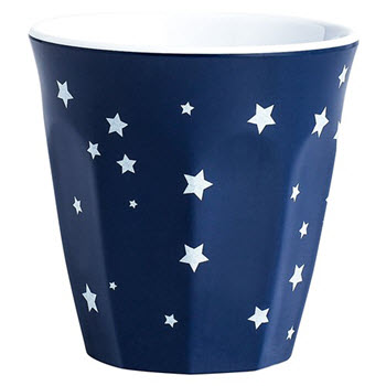 Barel Designs Midnight Blue Star 260ml Melamine Tumblers Set of 6