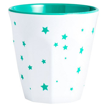 Barel Designs Green Star 260ml Melamine Tumblers Set of 6