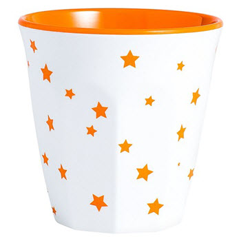 Barel Designs Orange Star 260ml Melamine Tumblers Set of 6