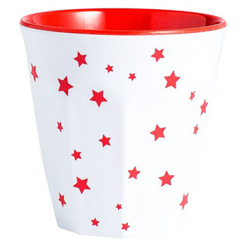 Barel Designs Red Star 260ml Melamine Tumblers Set of 6