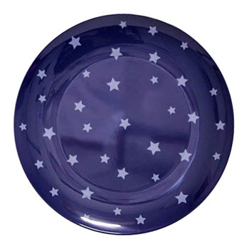 Barel Designs Midnight Blue Star Melamine Plate 20cm