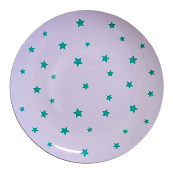Barel Designs Green Star Melamine Plate 20cm