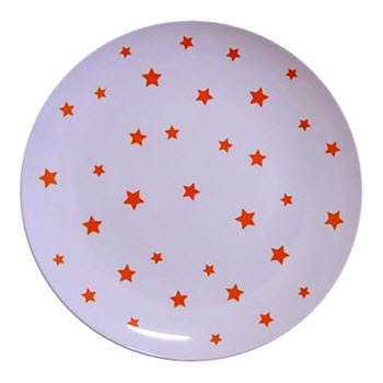 Barel Designs Orange Star Melamine Plate 20cm