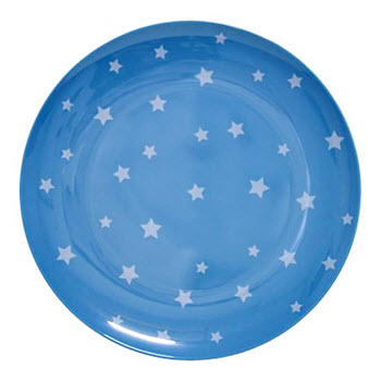 Barel Designs White Star on Cyan Melamine Plate 20cm