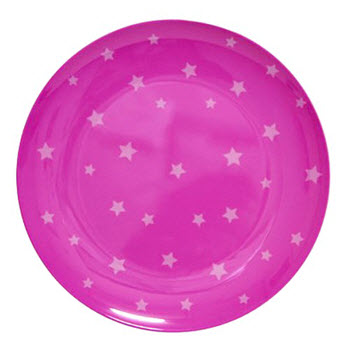 Barel Designs White Star on Magenta Melamine Plate 20cm