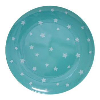 Barel Designs White Star on Green Melamine Plate 20cm
