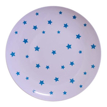 Barel Designs Cyan Star 20cm Melamine Plates Set of 6