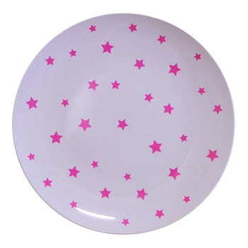 Barel Designs Magenta Star 20cm Melamine Plates Set of 6