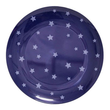 Barel Designs Midnight Blue Star 20cm Melamine Plates Set of 6