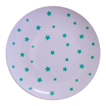 Barel Designs Green Star 20cm Melamine Plates Set of 6