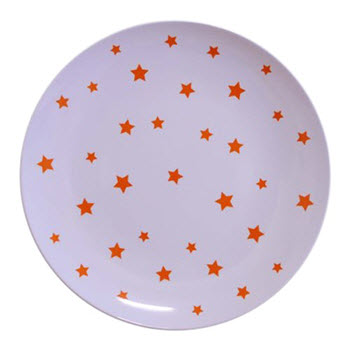 Barel Designs Orange Star 20cm Melamine Plates Set of 6
