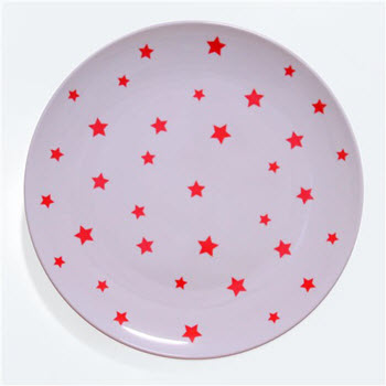 Barel Designs Red Star Melamine Plate 25cm