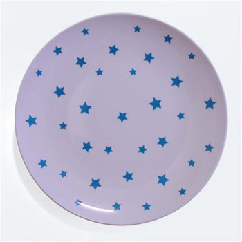 Barel Designs Cyan Star 25cm Melamine Plates Set of 6