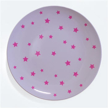 Barel Designs Magenta Star 25cm Melamine Plates Set of 6