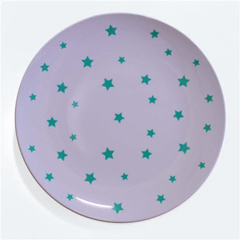Barel Designs Green Star 25cm Melamine Plates Set of 6