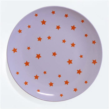 Barel Designs Orange Star 25cm Melamine Plates Set of 6