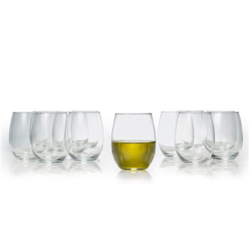 Salt & Pepper Borello Set of 12 Stemless Wine Glass Set 470ml