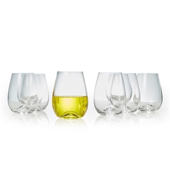 Salt & Pepper Polo 460ml Stemless Wine Glass Set of 8