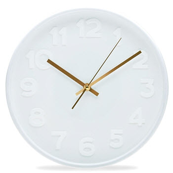 Salt & Pepper Felix Clock White 30cm