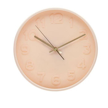 Salt & Pepper Felix Clock Blush 30cm