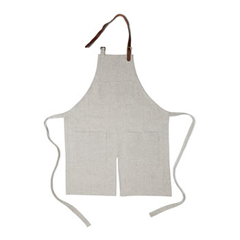Salt & Pepper Elton Apron Taupe
