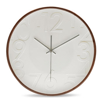Salt & Pepper Lincoln Wall Clock Walnut 32cm