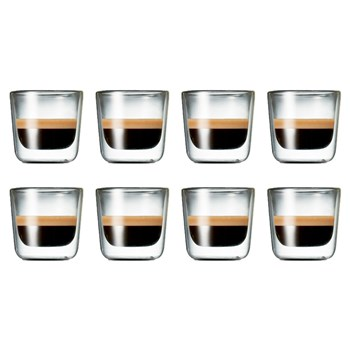 Salt & Pepper Barista Double Wall Espresso 100ml Set of 8