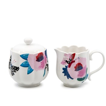 Salt & Pepper Willow New Bone China Sugar Bowl & Creamer 280ml/200ml